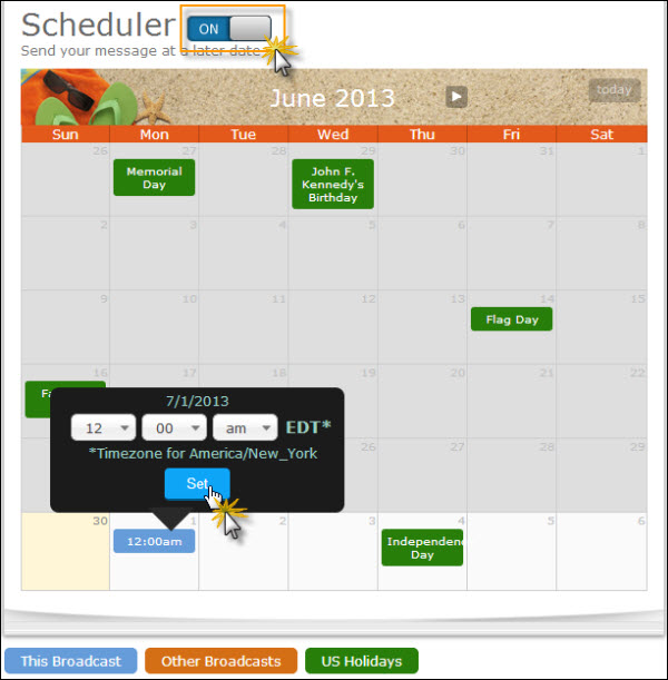 schedule-for-specific-date