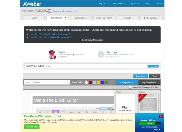How To Create An Autoresponder And Broadcast Email In Aweber