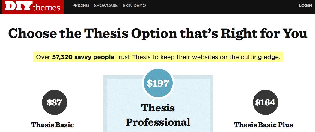 elegant themes vs thesis